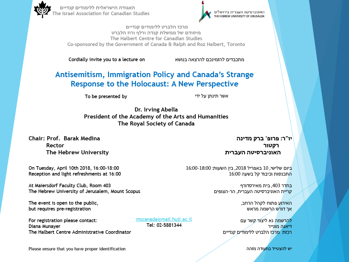 Antisemitism, Immigration Policy and Canada's Strange Response to the Holocaust_A New Perspective